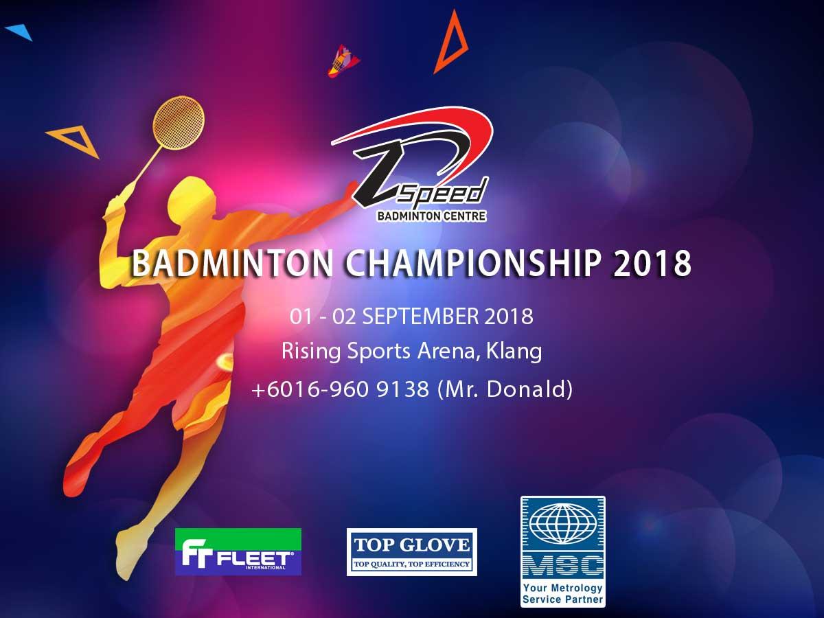 Z Speed Badminton Championships 2018 | Rising Sports Arena Klang