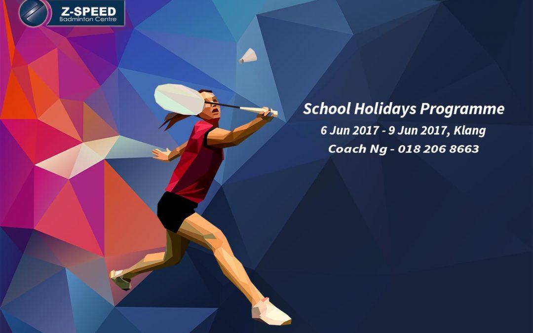 Badminton School Holidays Programme Jun 2017