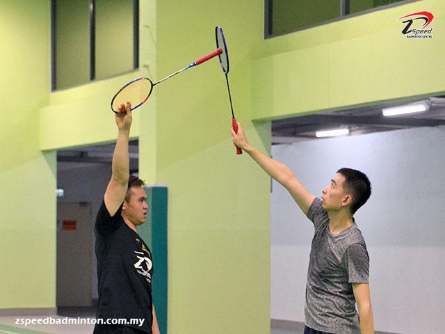 Adults Badminton Training Group in First City University College, Petaling Jaya